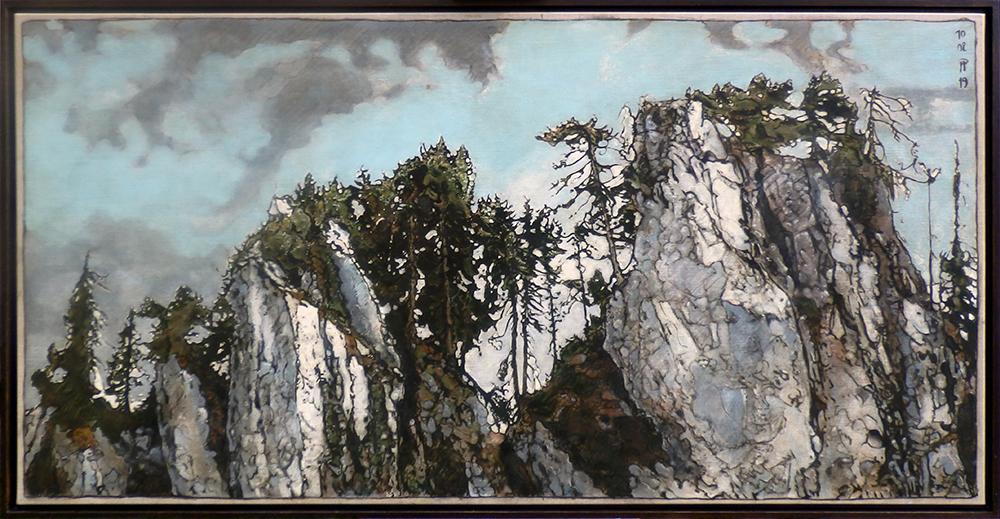 Rochers de Savalennes - 182 x 100 cm- sur toile - 2019